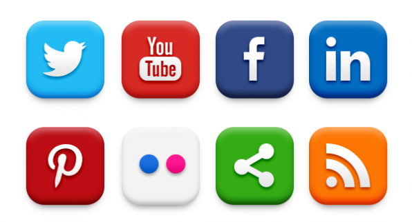 Iconos de Social Media (fuente: www.graphicsfuel.com)